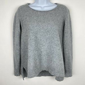 THE KOOPLES 100% Cashmere Grey Long Sleeve Sweater